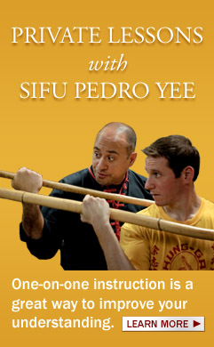Private Lessons with Sifu Pedro Cepero Yee